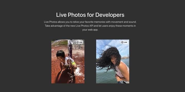 Live Photos artık web sitelerine gömülebiliyor