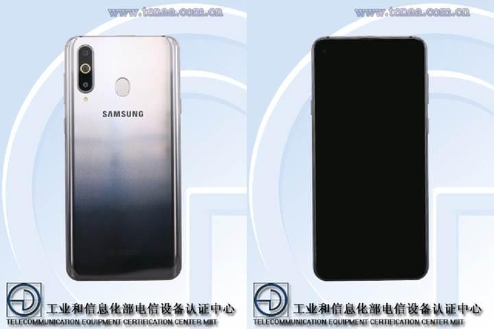 Infinity-O ekranlı Galaxy A8s'in yeni görselleri ortaya çıktı
